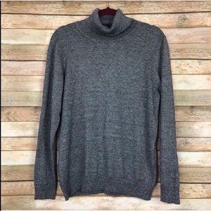 Calvin Klein Gray Turtle Neck Sweater XL  B-47